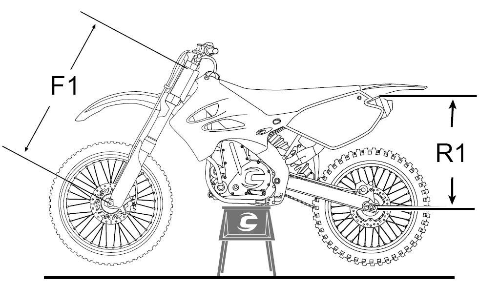 how to set rear suspension sag on a dual sport motorcycle